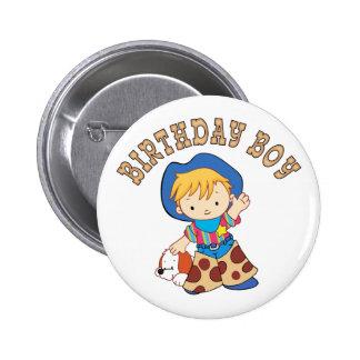 Cowkids Birthday Boy 2 Inch Round Button