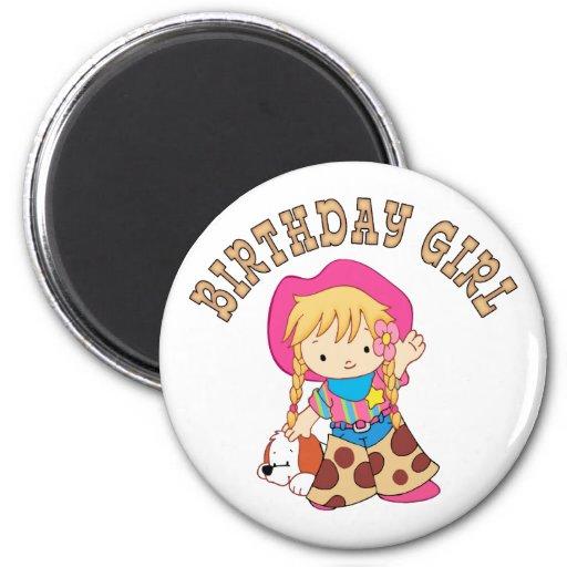 Cowkids Birthday Girl Magnets