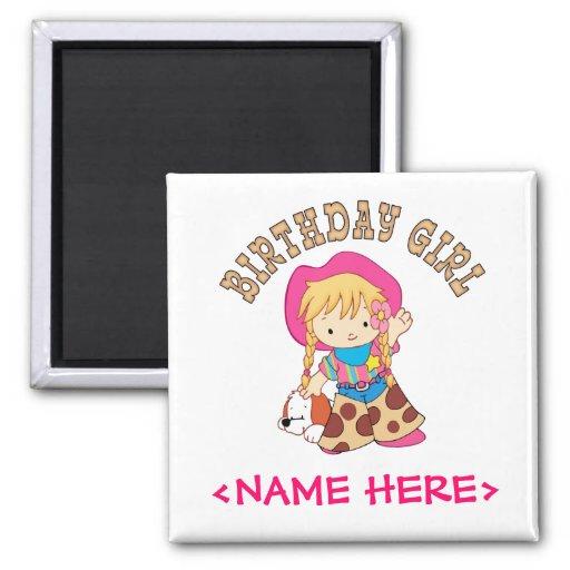 Cowkids Birthday Girl Fridge Magnet