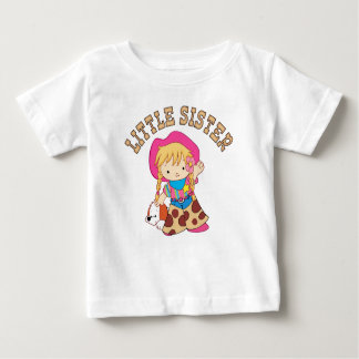 Cowkids Little Sister Baby T-Shirt