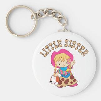 Cowkids Little Sister Basic Round Button Keychain
