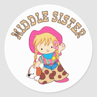 Cowkids Middle Sister Classic Round Sticker