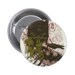 Cowl and Skull Manuscript Vintage Collage 2 Inch Round Button