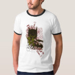 Cowl and Skull Manuscript Vintage Collage T-Shirt