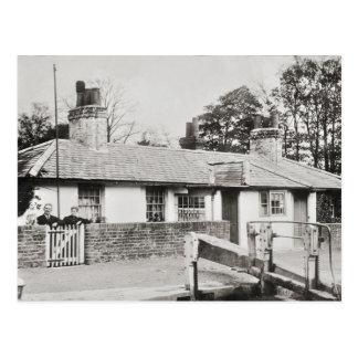 Cowley lock vintage photo postcard