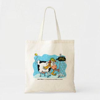 Cowlick Cow Tote Bag