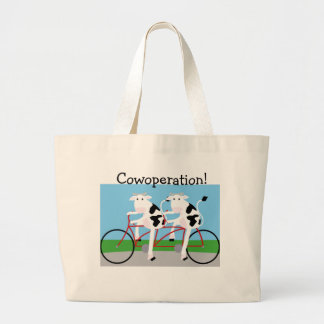 Cowoperation! Large Tote Bag