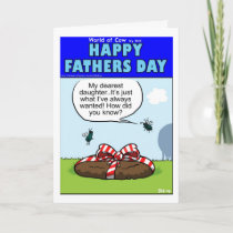 Cowpie Fathers Day present Card