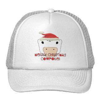 CowPoke de las Felices Navidad Gorra