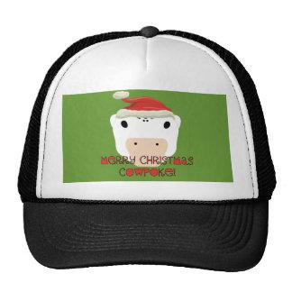 CowPoke de las Felices Navidad Gorras De Camionero