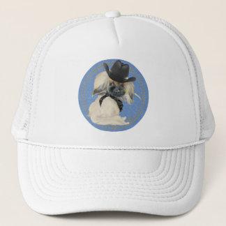 Cowpoke Peke Trucker Hat