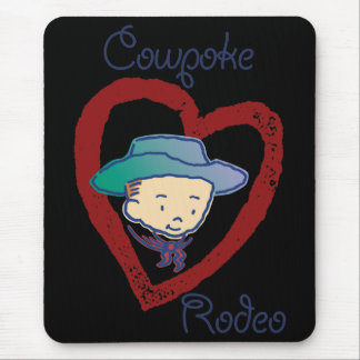Cowpoke Rodeo Cowboy Rusty's Mousepad