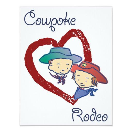 Cowpoke Rodeo Party Invitation