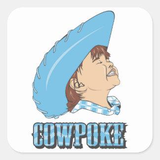 Cowpoke Square Sticker