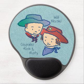 Cowpokes Rose & Rusty Gel Mouse Pad