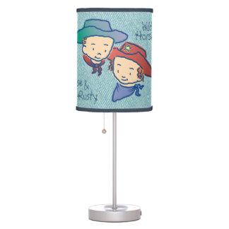 Cowpokes Rose & Rusty Table Lamp