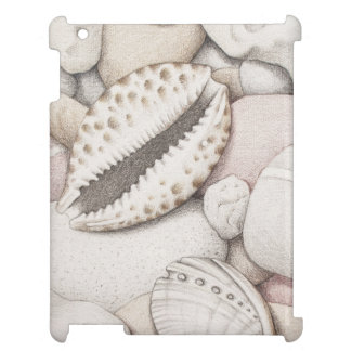 Cowrie & Abalone Shells and Pebbles iPad Case