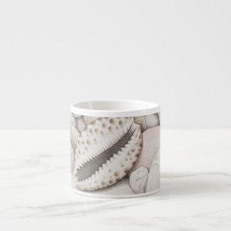 Cowrie Shells & Pebbles in Pencil Espresso Mug