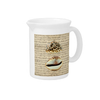 Cowrie shells pitcher