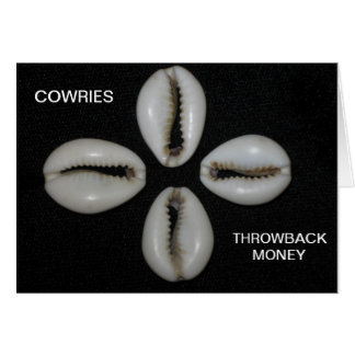 Cowries THROWBACK MONEY Greeting Card