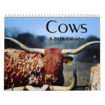 Cows, A 2016 Calendar
