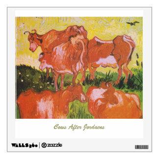 Cows (after Jordaens) by Van Gogh Wall Decal