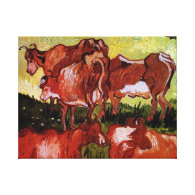 Cows after Jordaens Vincent van Gogh Stretched Canvas Prints