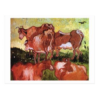 Cows (after Jordaens), Vincent van Gogh Postcard