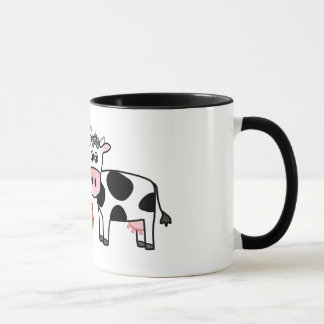 cows and rooster mug
