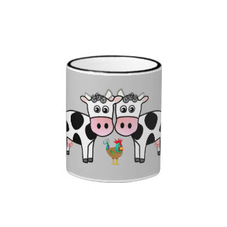 cows and rooster mug II