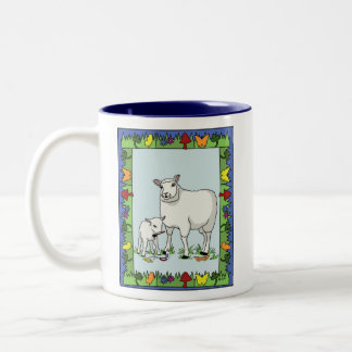 Cows and Sheep as Artists Mug