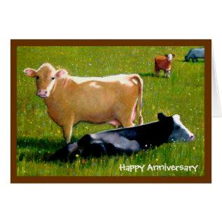 Cows Anniversary Card at Zazzle