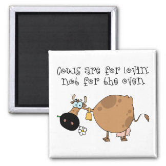 Cows Are For Lovin 2 Inch Square Magnet