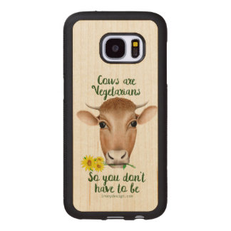 Cows are Vegetarians Funny Design Wood Samsung Galaxy S7 Case