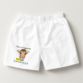 Cows are Vegetarians So You Don't Have To Be Boxers