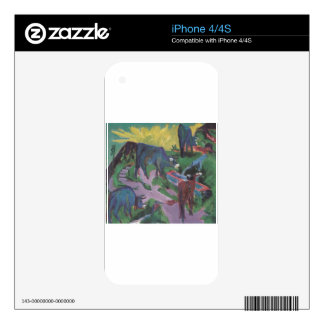 Cows at Sunset by Ernst Ludwig Kirchner Decal For The iPhone 4S