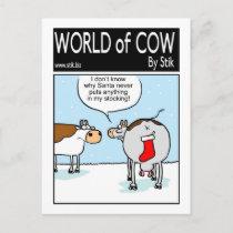 Cow's Bottom Stocking Postcard