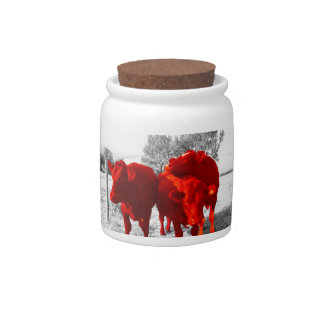 Cows Candy Jars
