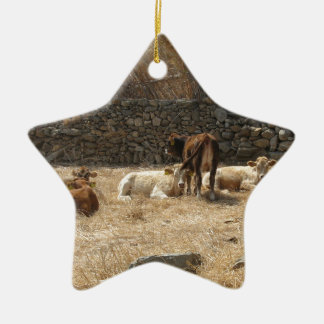 Cows Ceramic Ornament