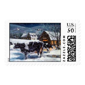 COWS: CHRISTMAS: ARTWORK POSTAGE