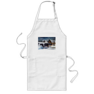 COWS: CHRISTMAS: SNOW: ART: HOLTEIN APRONS