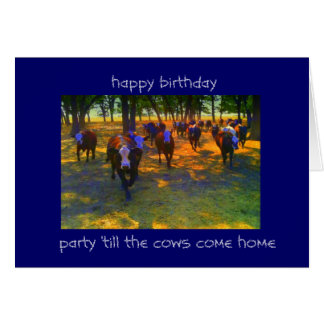 Cows Come Home Card