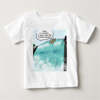 Cows falling off of waterfall baby T-Shirt