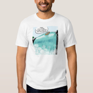 Cows falling off of waterfall T-Shirt