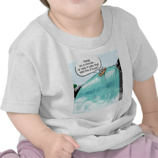 Cows falling off of waterfall t shirt