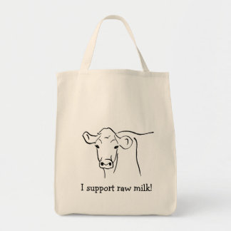 Cows for Raw Milk Illustration Tote Bag