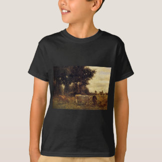 Cows Grazing by Constant Troyon T-Shirt