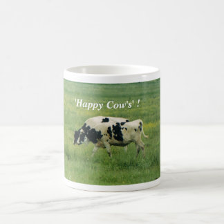 Cows, 'Happy Cow's' ! Coffee Cup Classic White Coffee Mug