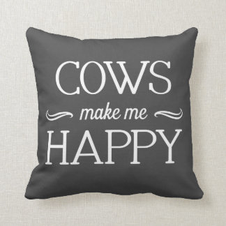 Cows Happy Pillow - Assorted Styles & Colors