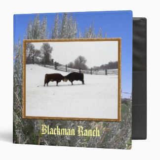 Cows Head To Head 3 Ring Binder